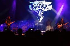 Levande konsert för last på den Oktober festen i Oradea Rumänien Royaltyfri Foto