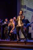 Levande konsert för musikband royaltyfria bilder