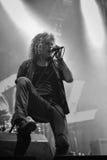 Levande konsert för Overkillmetallmusikband Hellfest 2016 Arkivfoton