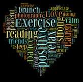 Levande liv förälskelseliv, ordmoln Arkivbild