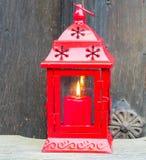 Levande ljusstearinljus Advent Christmas Red arkivbild