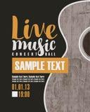 Levande musik för konsert med en gitarr stock illustrationer