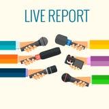Levande rapport Arkivbild