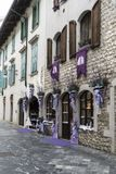 Levander shop in Venzone, Friuli, Italy Royalty Free Stock Photography