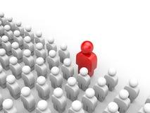 Levandosi in piedi fuori dalla folla. Concetto differente Immagini Stock Libere da Diritti