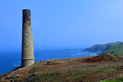 Levant Tin Mine chimney Stock Photography