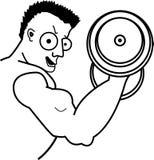 Levantador de peso de Bicep Imagen de archivo libre de regalías