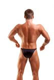 Levantamento amador do bodybuilder Imagens de Stock Royalty Free
