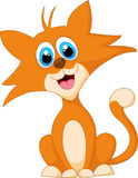 Levantamento animal do gato adorável dos desenhos animados Imagens de Stock Royalty Free