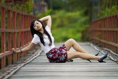 Levantamento bonito da menina Fotos de Stock