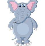 Levantamento bonito dos desenhos animados do elefante Fotografia de Stock Royalty Free
