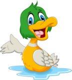 Levantamento bonito dos desenhos animados do pato do bebê Imagem de Stock Royalty Free