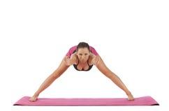 Levantamento bonito novo da ioga da menina Fotos de Stock Royalty Free