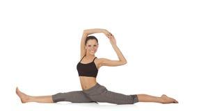 Levantamento bonito novo da ioga da menina Foto de Stock Royalty Free