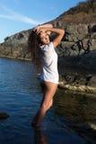 Levantamento com cabelo molhado Fotos de Stock Royalty Free