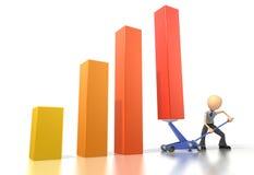 Levantamento com macaco acima do gráfico Imagens de Stock