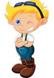 Levantamento da criança dos desenhos animados Imagem de Stock Royalty Free