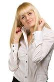 Levantamento da mulher da beleza Imagem de Stock Royalty Free