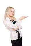 Levantamento da mulher de negócio Imagens de Stock