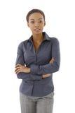 Levantamento da mulher de negócios imagem de stock