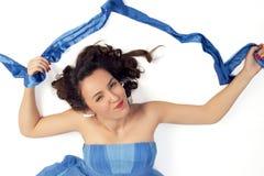 Levantamento da mulher nova Imagem de Stock Royalty Free