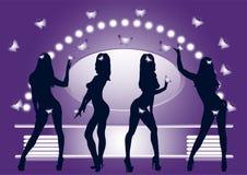 Levantamento das meninas Fotografia de Stock Royalty Free