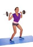 Levantamento de peso afro-americano da mulher Imagens de Stock Royalty Free