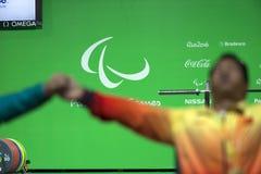 Levantamento de peso do jogo 2016 de Brasil - de Rio De janeiro - de Paralympic Foto de Stock Royalty Free
