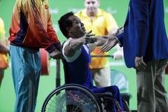 Levantamento de peso do jogo 2016 de Brasil - de Rio De janeiro - de Paralympic Imagens de Stock
