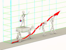 Levantamento de uma linha da carta Imagens de Stock Royalty Free