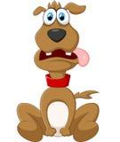 Levantamento do cão dos desenhos animados Imagem de Stock Royalty Free