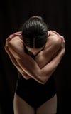 Levantamento do dançarino da mulher Imagem de Stock