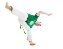 Levantamento do dançarino de Capoeira Imagem de Stock