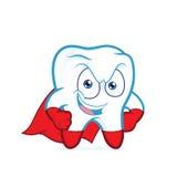 Levantamento do dente do super-herói Fotografia de Stock