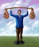 Levantamento do dinheiro ilustração stock