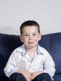 Levantamento do menino Fotos de Stock