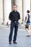 Levantamento do padre (Cidade Estado do Vaticano) imagens de stock