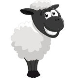 Levantamento dos carneiros dos desenhos animados Fotografia de Stock