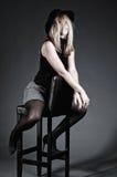 Levantamento erótico da mulher Imagem de Stock Royalty Free