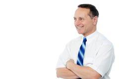 Levantamento executivo masculino seguro foto de stock