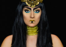Levantamento fêmea de Cleopatra no estúdio Foto de Stock Royalty Free