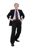 Levantamento feliz do homem de negócio Imagem de Stock Royalty Free