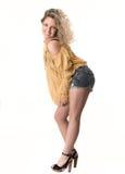 Levantamento louro bonito da mulher Imagem de Stock Royalty Free