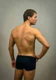 Levantamento modelo masculino muscular Imagens de Stock