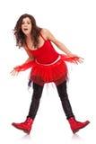 Levantamento moderno da bailarina surpreendido imagens de stock royalty free