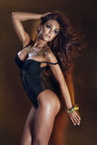 Levantamento moreno sensual da mulher Imagens de Stock Royalty Free