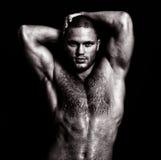 Levantamento muscular nu do indivíduo Imagens de Stock Royalty Free