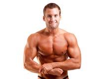Levantamento novo do bodybuilder fotografia de stock