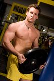 Levantamento novo do bodybuilder foto de stock royalty free
