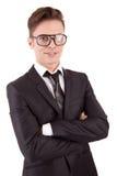 Levantamento novo do homem de negócio Fotos de Stock Royalty Free